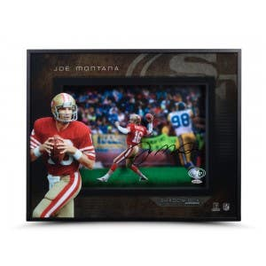 Joe Montana Autographed 49ers Shadow Box