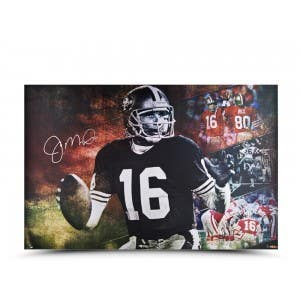"""Joe Montana Autographed """"Cool Joe"""" 36 x 24"""