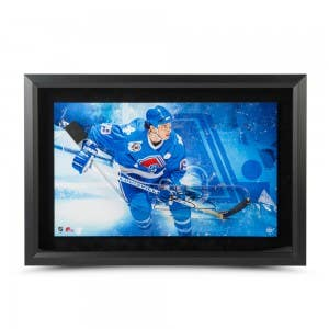 Joe Sakic Autographed Acrylic Stick Blade with Iceberg Picture Framed