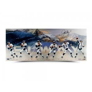 "John Elway Autographed ""Art of the Pass"" 36 x 15"