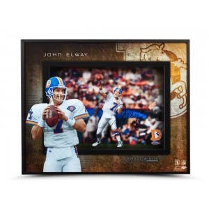 John Elway Autographed Prolific Passer Shadow Box