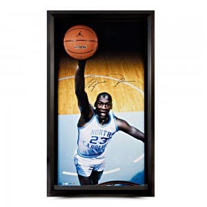 Michael Jordan Autographed UNC Breaking Through Display