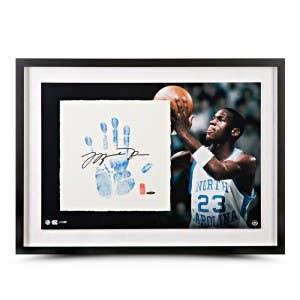 Michael Jordan Autographed UNC Tegata Lithograph