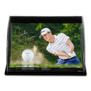 """Justin Thomas Autographed """"Precision"""" 10x8 With Curve Display"""