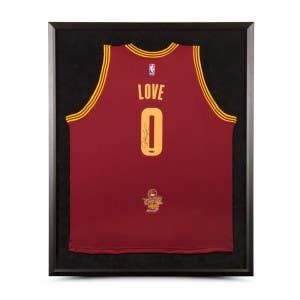 Kevin Love Autographed & Framed Cleveland Cavaliers Swingman Maroon Jersey With 2016 NBA Finals Championship Logo