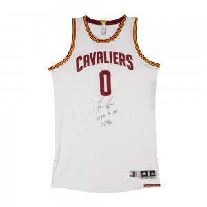 Kevin Love Autographed & Inscribed Cleveland Cavaliers Adidas Authentic White Game-worn Jersey