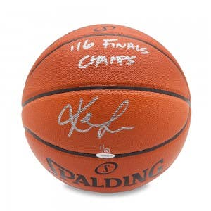 Kevin Love Autographed & Inscribed Spalding Indoor/Outdoor Basketball