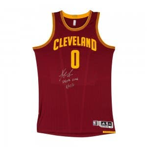 Kevin Love Autographed & Inscribed Cleveland Cavaliers Adidas Authentic Wine Game-worn Jersey