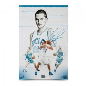 "Kevin Love Autographed ""Westwood Wizard"" 16 x 24"