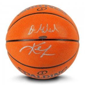 Kevin Love & Darius Garland Autographed Indoor/Outdoor Spalding Basketball