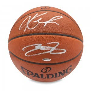 Kevin Love & LeBron James Signed Authentic Basketball