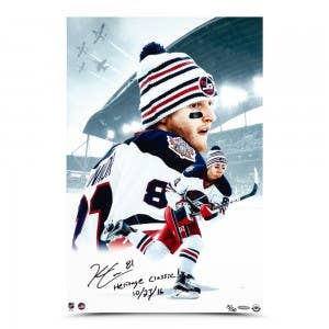 """Kyle Connor Autographed & Inscribed """"Heritage Classic"""" 16 x 24"""