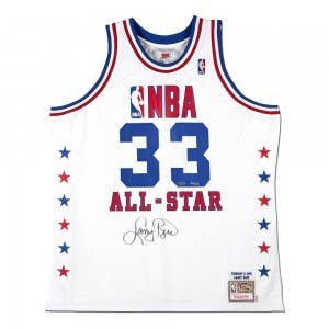 Larry Bird Autographed 1990 NBA All-Star Game Authentic Mitchell & Ness Jersey