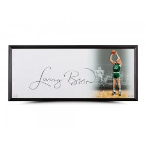"""Larry Bird Autographed """"The Show"""" 46 x 20 Framed"""