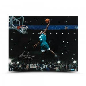 Larry Johnson Autographed Spotlight 20 x 16