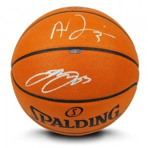LeBron James & Anthony Davis Autographed Authentic Spalding Basketball