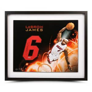 LeBron James Autographed Jersey Number