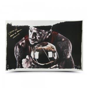 LeBron James Autographed & Inscribed Magic Moment 24x16 Illustration