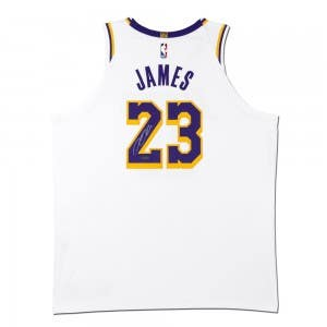 LeBron James Autographed Los Angeles Lakers White Authentic Nike Jersey