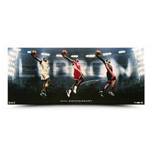 LeBron James Autographed Photo Transition 10th Year Anniversary