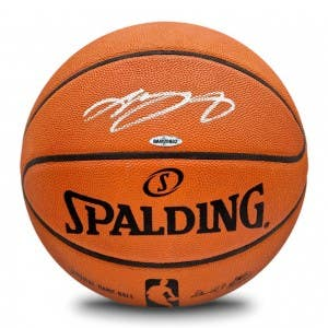 LeBron James Autographed Spalding Basketball