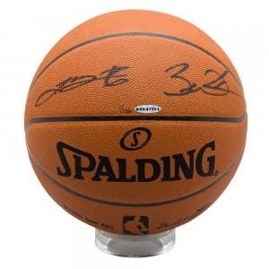 LeBron James Dwyane Wade Dual Signed Basketball