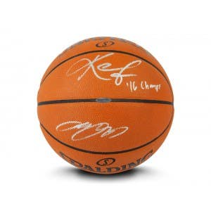 LeBron James & Kevin Love Autographed & Inscribed Spalding Authentic Basketball