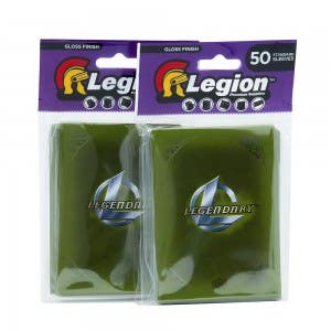 Legendary Game Engine Green Card Sleeves - 2 Pack