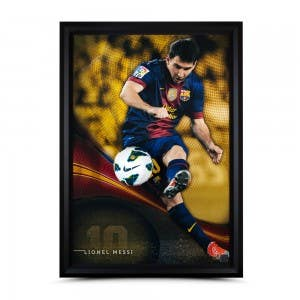 Lionel Messi Autographed 'Flea Flicker' Breaking Through