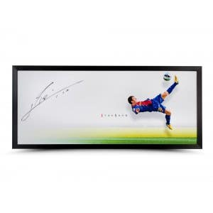 Lionel Messi Autographed 'The Show' Display