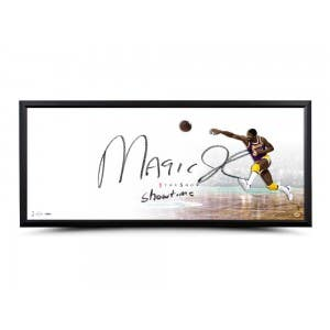 "Magic Johnson Autographed & Inscribed ""The Show"" 46x20 Framed"