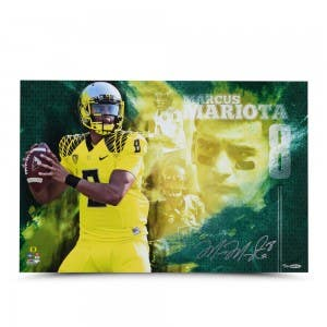 "Marcus Mariota Autographed ""College Sensation"" 16 x 24 Photo"