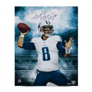 "Marcus Mariota Autographed ""Stadium Series"" 16 x 20 Photo"