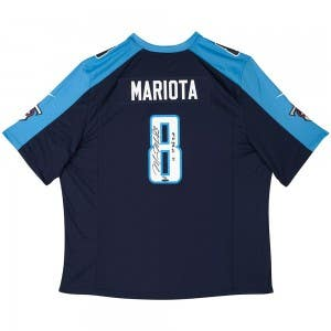 Marcus Mariota Signed & Inscribed Tennessee Titans Blue Nike Game Jersey