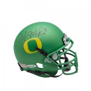 Marcus Mariota Signed University of Oregon Apple Green Schutt Mini Helmet