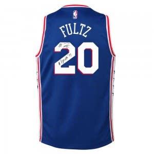 Markelle Fultz Autographed & Inscribed Philadelphia 76ers Blue Swingman Jersey