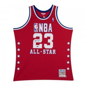 Michael Jordan Signed 1989 Red All-Star Jersey 81725