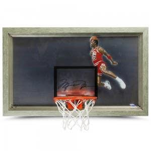 Michael Jordan Autographed 1988 Slam Dunk Backboard