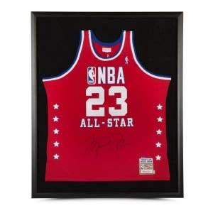 Michael Jordan Autographed 1989 All-Star Game Authentic Mitchell & Ness Jersey Framed