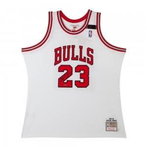 Michael Jordan Autographed Chicago Bulls 1991-92 White Authentic Mitchell & Ness Jersey