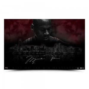 "Michael Jordan Autographed ""City Of The Big Shoulders"" 40 x 25"