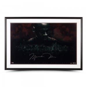"Michael Jordan Autographed ""City Of The Big Shoulders"" 44x29 Framed"