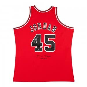 Michael Jordan Autographed & Embroidered 1995 Chicago Bulls #45 Red Authentic Mitchell & Ness Jersey