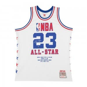Michael Jordan Autographed & Embroidered 1985 NBA All-star Game Authentic Mitchell & Ness Jersey