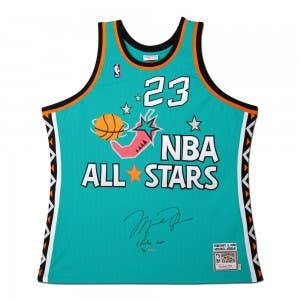 Michael Jordan Autographed & Embroidered 1996 All-Star Game East Authentic Mitchell & Ness Jersey
