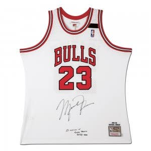 Michael Jordan Autographed & Embroidered Chicago Bulls 1991-92 White Authentic Mitchell & Ness Jersey