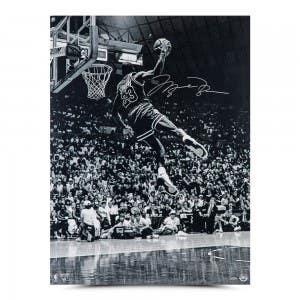 "Michael Jordan Autographed ""Frozen in Time"" 30 x 40"
