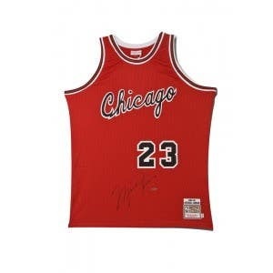 Michael Jordan Signed Chicago Bulls Mitchell & Ness Rookie Jersey