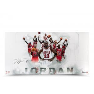 Michael Jordan Autographed 122345 Jersey Number Photo