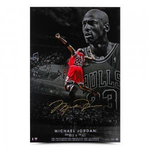 "Michael Jordan Autographed ""MJ Poster"" 24x36"